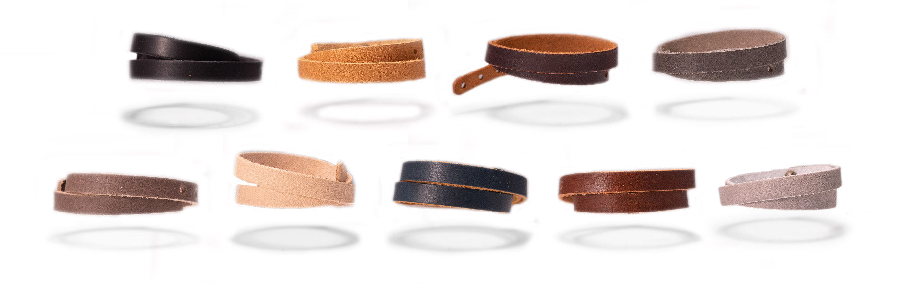 Leather wristband colors