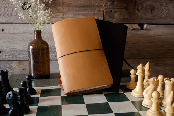 leather notebook refillable expedition