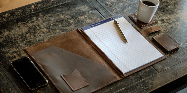 leather folio padfolio large