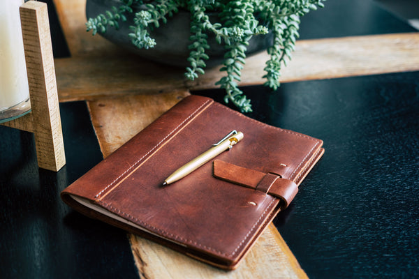 leather composition cover notebook refillable