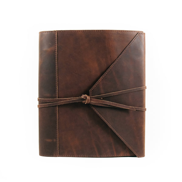 "Soft Leather Binder with flap - 8.5"" x 11"""