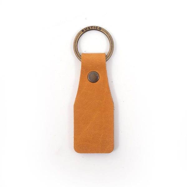 Tag Leather Keychain
