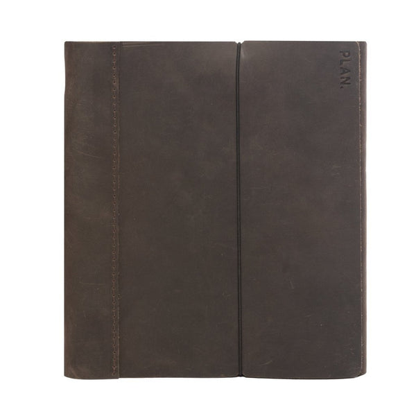 Leather Weekly Task Planner - Large