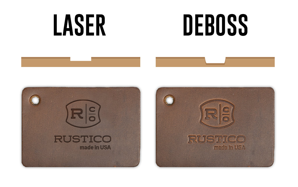 laser deboss corporate gifts rustico