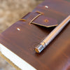 Five Year Leather Journal + Copper Pen Gift Set -