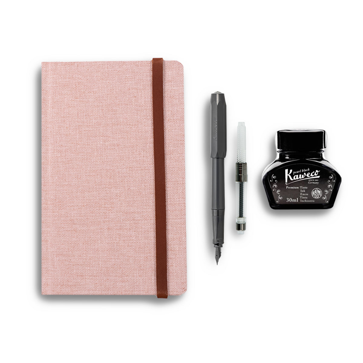 Linen Idea Notebook + Pen Gift Set