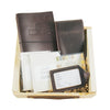 Leather Travel Journal, Luggage Tag, and Passport Cover Gift Set - Burgundy