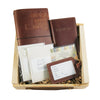 Leather Travel Journal, Luggage Tag, and Passport Cover Gift Set - Saddle
