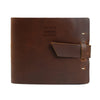 Leather Guest Book - Saddle / Home Sweet Home