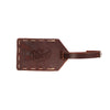 Leather Luggage Tag - Hand Sewn - Burgundy