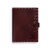 Switchback Leather Notebook - Hand-sewn - Burgundy