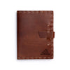 Switchback Leather Notebook - Hand-sewn - Saddle