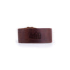 Wide Leather Bracelet - Dark Brown