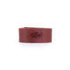 Wide Leather Bracelet - Saddle