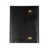 Writers Log Large Leather Notebook - Snap Closure - Black