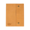 Writers Log Large Leather Notebook - Snap Closure - Buckskin
