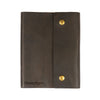 Writers Log Large Leather Notebook - Snap Closure - Charcoal