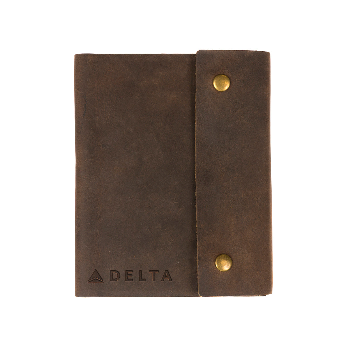 Writers Log Large Leather Notebook - Snap Closure
