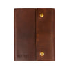 Writers Log Large Leather Notebook - Snap Closure - Saddle