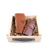 Leather Fly Fishing Log Gift Set - Saddle