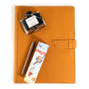 Leather Padfolio + Fountain Pen Gift Set - Buckskin