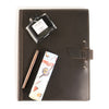 Leather Padfolio + Fountain Pen Gift Set - Charcoal