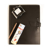 Leather Padfolio + Fountain Pen Gift Set - Black
