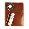 Leather Padfolio + Fountain Pen Gift Set - Saddle