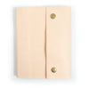 Writers Log Large Leather Notebook - Snap Closure - Natural