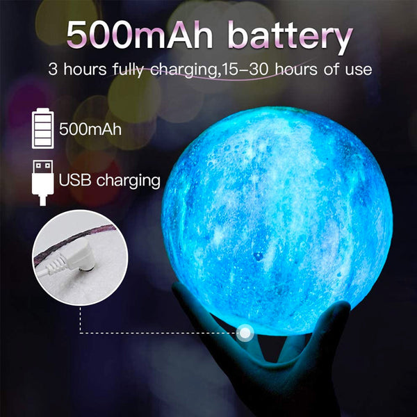 Moon and Galaxy Lamp - 16 Colors LED Night Light