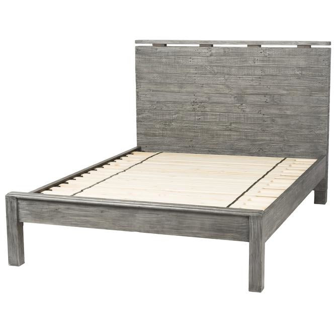 Tuscan Spring Low Footboard Queen Bed - Grey Wash