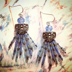 """Blue Fireworks"" - Earrings"
