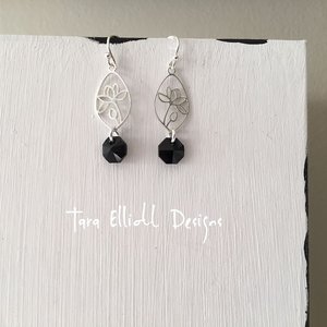 """Black Lotus"" - Earrings"