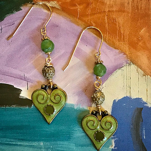 """Piece of My Heart"" - Earrings"