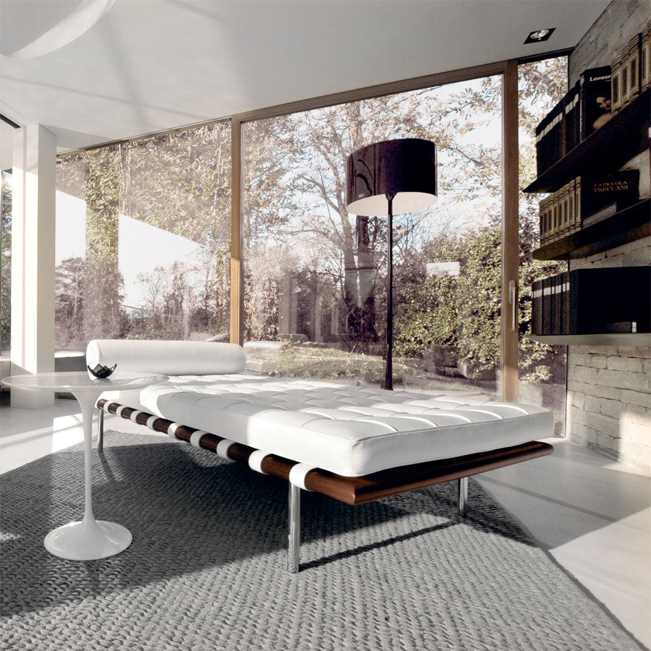 Barcelona White Leather Daybed