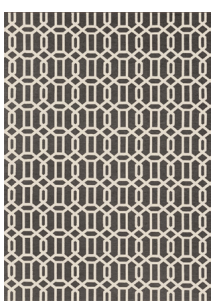 Modern Fretwork Rich Grey & White