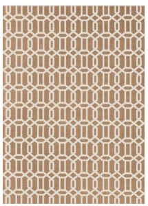 Modern Fretwork Rich Tan & White