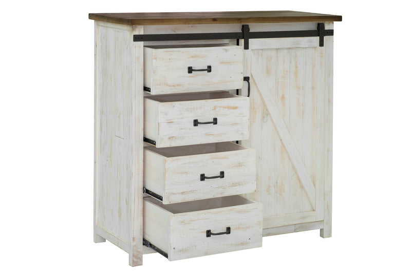 Provence 4 Drawer Chest With 1 Door