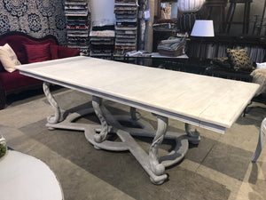 Distressed White Table