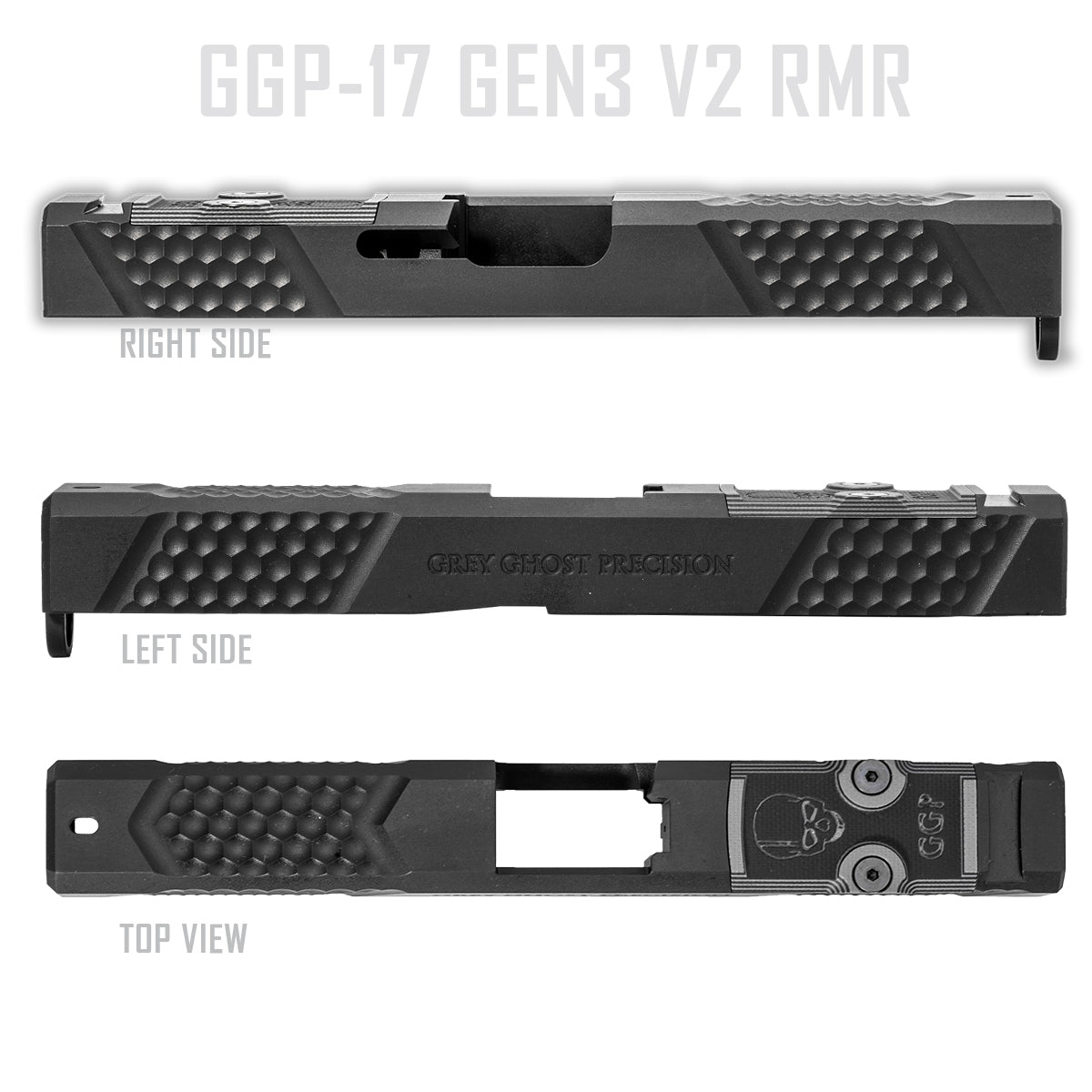 GGP Glock® 17 Gen 3 Stripped Slide – Grey Ghost Precision