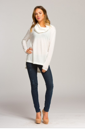 Long Sleeve Loose Turtle Neck