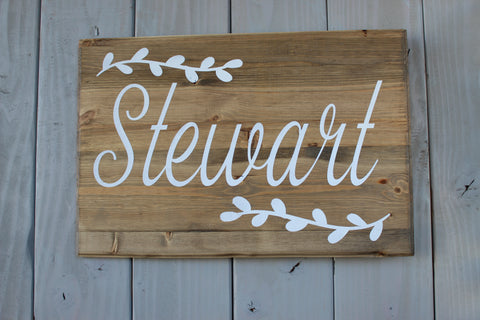 Personalized Large Family Last Name Sign