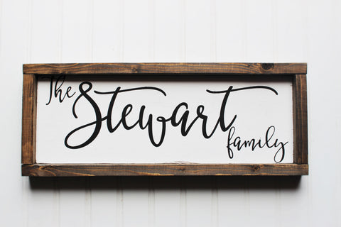 Personalized Family Name Sign - Personalized wedding gift