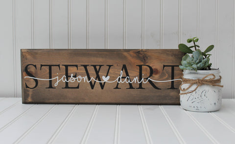 Personalized Rustic Family Name Sign