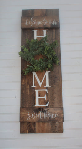 Home sweet home rustic wood sign - Farmhouse sign - Housewarming gift
