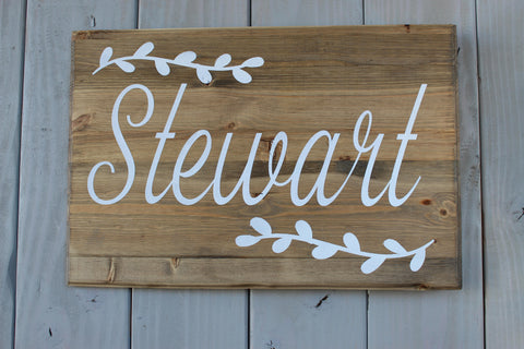 Family name sign - last name sign - wedding sign - wedding cake decoration - rustic wedding decor - farmhouse decor - farmhouse home decor