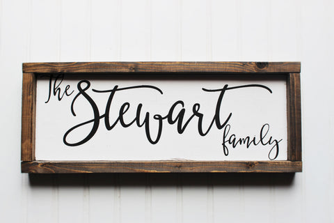 Personalized family name sign - Last name sign - Personalized wedding gift