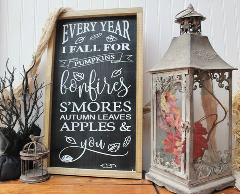 Every year I fall for you farmhouse sign - Fall farmhouse wood decor