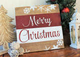 Merry Christmas wood sign - Farmhouse Merry Christmas sign - Farmhouse Christmas decor - Merry Christmas door hanger - Farmhouse style decor