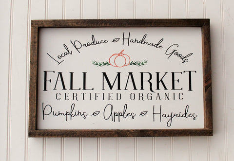 Fall farmhouse pumpkin sign - Pumpkin fall decor